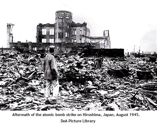Hiroshima after atom bomb (122K)