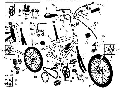 bike assembly parts list illustration (35K)