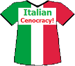 Italy's Cenocracy T-shirt (8K)