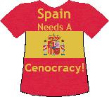Spain's Cenocracy T-shirt (5K)