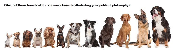Can dog breeds be used to illustrate ideologies?