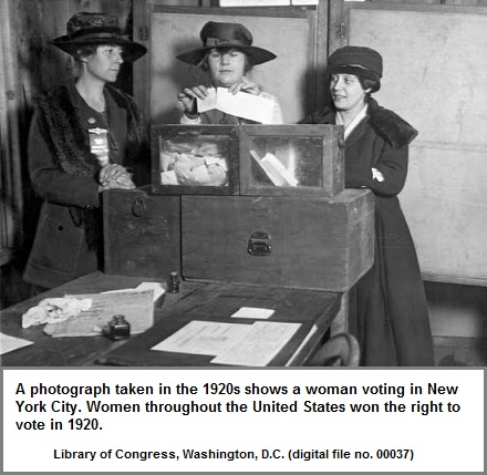 3 Women voting in 1920 New York City