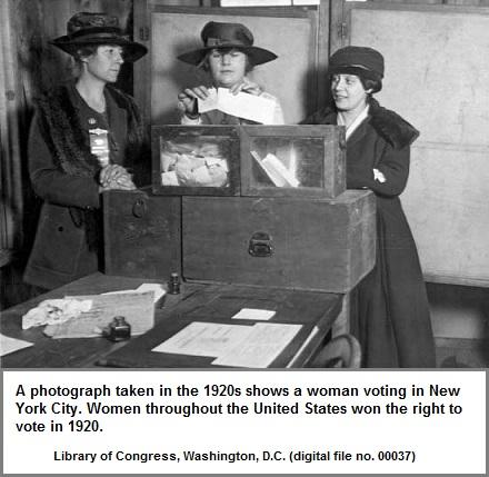 3 Women voting in 1920 New York City