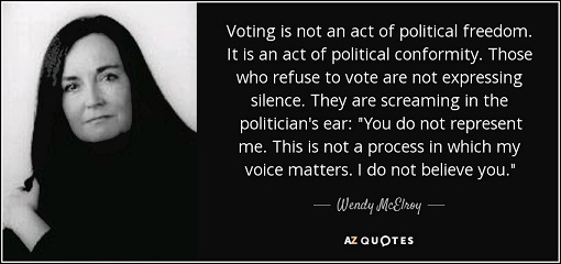 Wendy McElroy's quote on voting