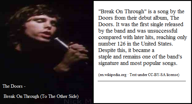 Doors song: Break on through to the other side