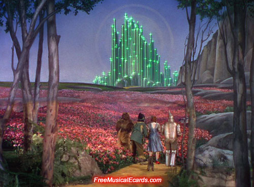 Poppy field and emerald City