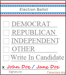 this is a generic despotic government ballot