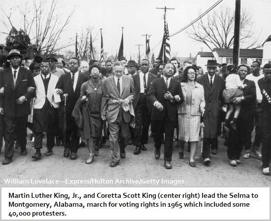 Voting Rights Protest March