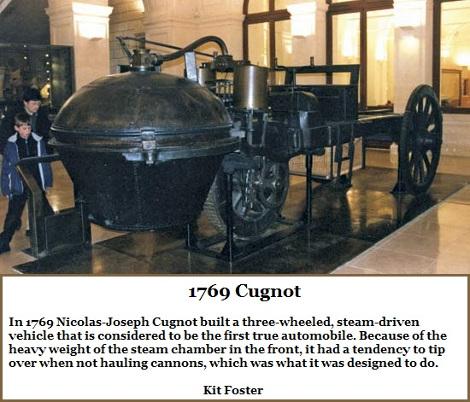 1769 Cugnot Three-Wheeled Vehicle