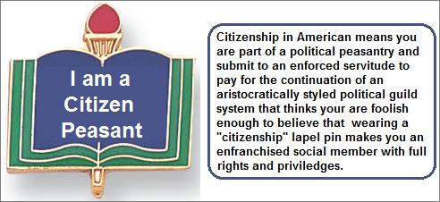 The I am a Citizen peasant lapel pin