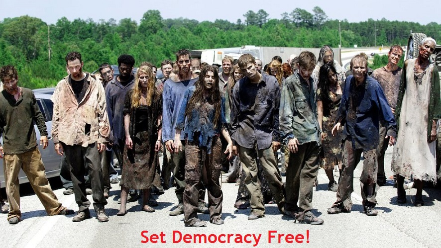 Democracy's Zombie society (238K)