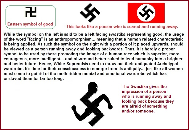 Left and right turning swastikas along with new imagery