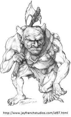 Axe wielding ogre (40K)