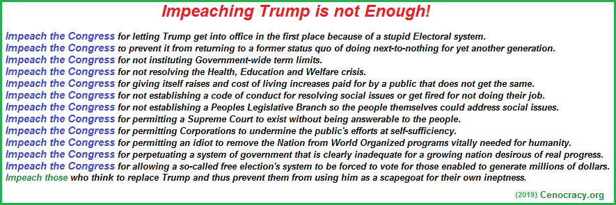 Impeaching Trimp is not enough!
