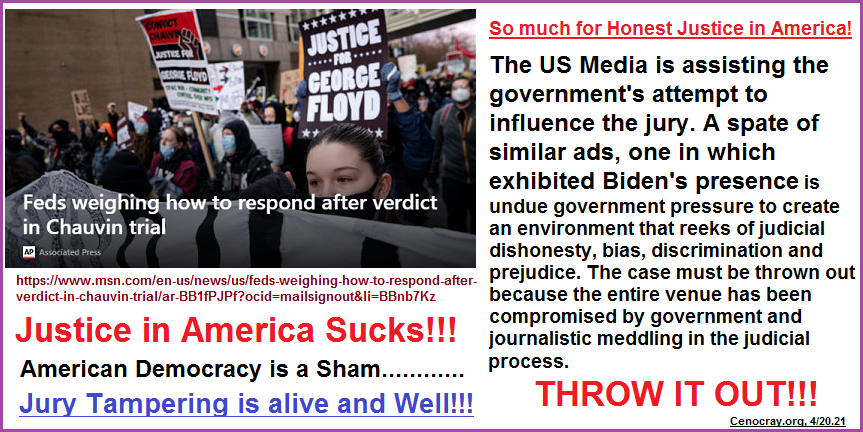 The US media is assisting the government with jury tampering!