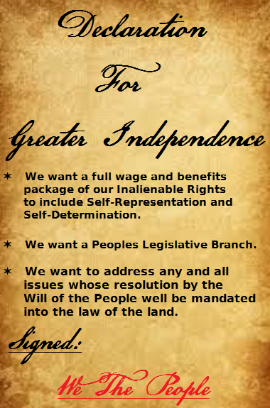 Declaration For Greater Independence