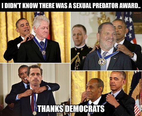 The US award for sexual predators