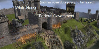 The White House and Federal government are treated like a castle