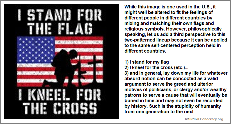 I stand for the flag motto
