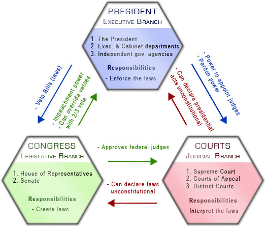 Present Checks-and-Balances government model (49K)