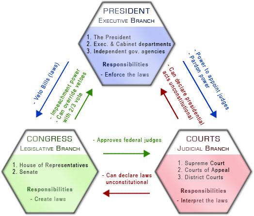 Present Checks-and-Balances government model (49K)