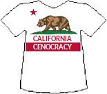 California's Cenocracy T-shirt (11K)