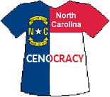 North Carolina's Cenocracy T-shirt (10K)