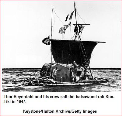 Kon-Tiki Raft of Thor Heyerdahl