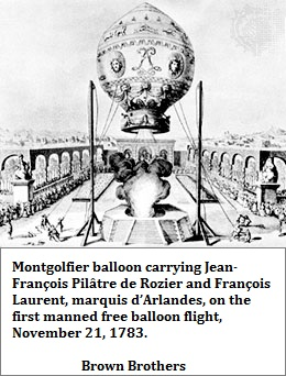 Montgolfier balloon ascent