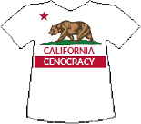 California's Cenocracy T-shirt (11K)