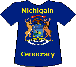 Michigan's Cenocracy T-shirt (11K)