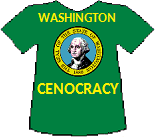 Washington's Cenocracy T-shirt (10K)