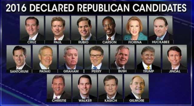 2016 US Republican Presidential Candidates
