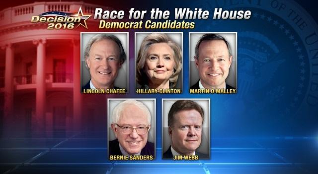 2016 US Democratic Presidential Candidates