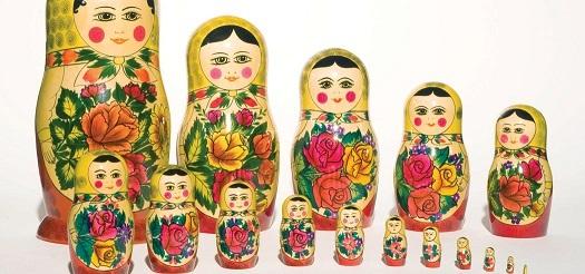 Series of Russian Nesting dolls