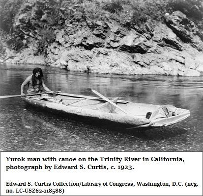 Yurok canoe (91K)