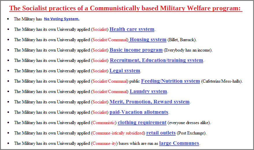 Military Socialism, Communism, Welfare (61K)
