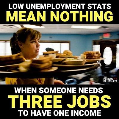 3 jobs, 1 income