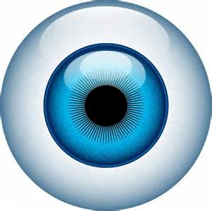 Human eyeball rendition