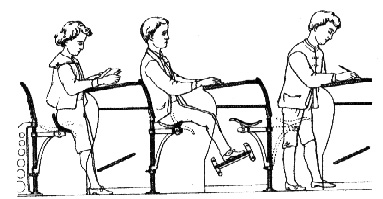 Sit-stand school seating