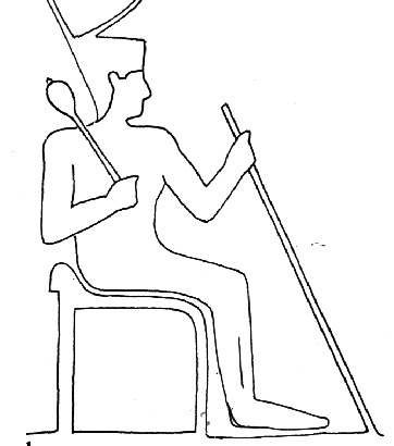 Egyptian chair with 'sacral' support