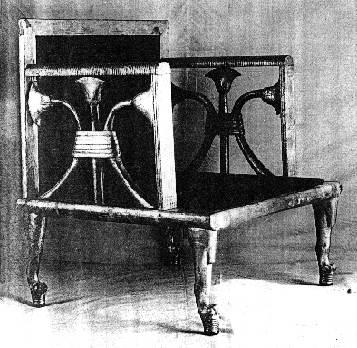 Fourth Dynasty Egyptian chair for Queen Hetepheres