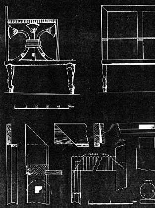Construction details for Egyptian chair