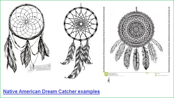 Native American Dream Catcher examples