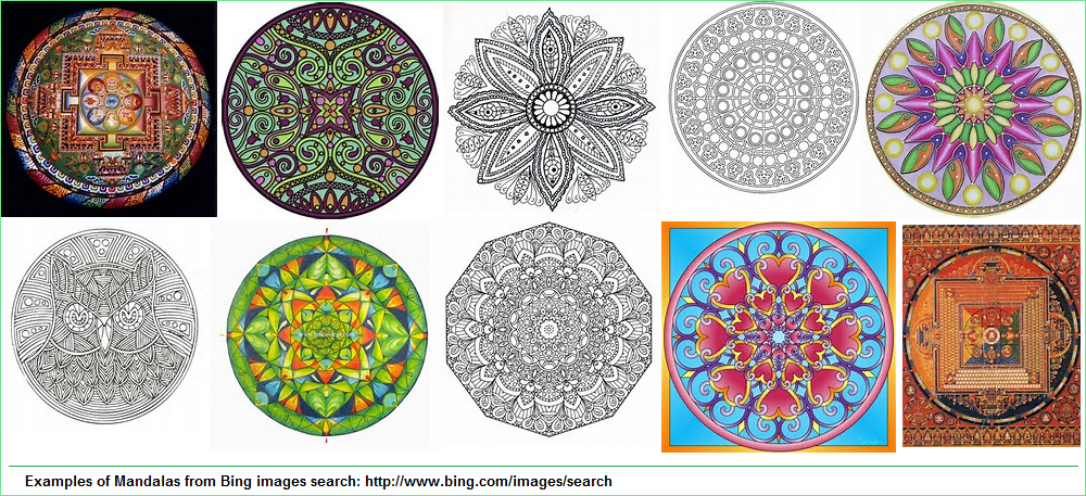 Various examples of mandalas
