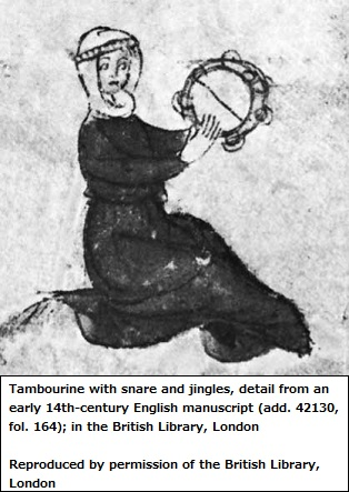 14th Century Tambourine player