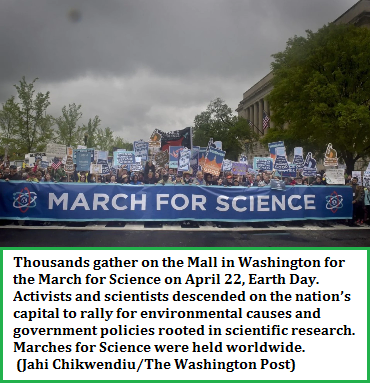 March for Science banner protest