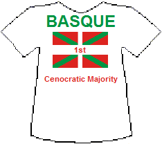 Basque 1st Cenocratic Majority T-shirt (5K)