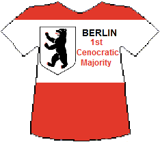 Berlin 1st Cenocratic Majority T-shirt (6K)