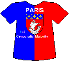 Paris 1st Cenocratic Majority T-shirt (7K)